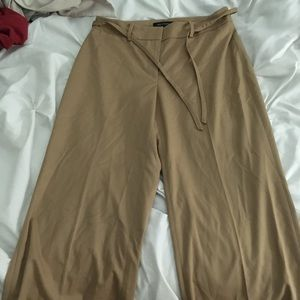 Wide leg capri work pants